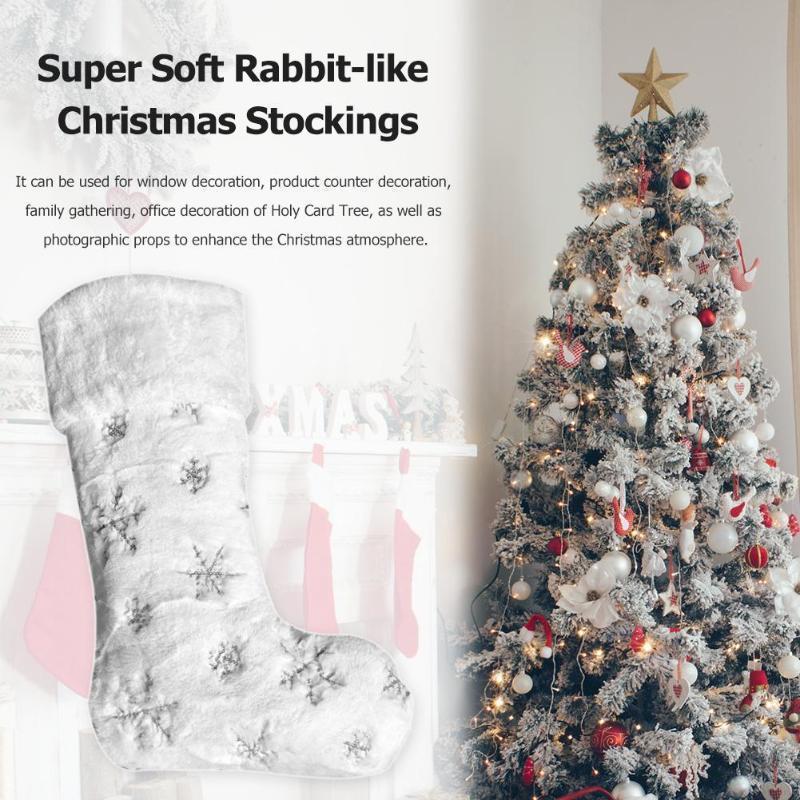 Natal Cabelo Meias tridimensional Embroided Snowflakes Sock para uso doméstico Enhancing Decoração do partido