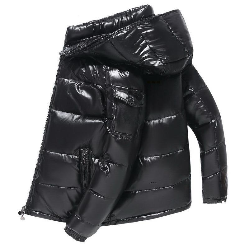 Мужская зимняя куртка сплошное цветное мягкое пальто зимнее пальто низкоугольник куртка пуховая куртка спортивная одежда наряд с капюшоном Outfit-2
