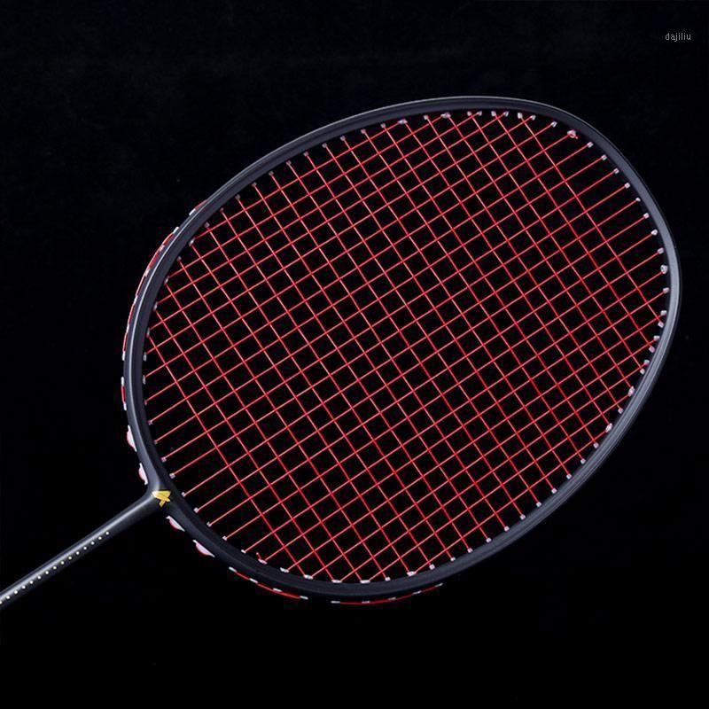 Sıcak Grafit Tek Badminton Raket Profesyonel Karbon Fiber Badminton Raket Taşıma Çantası ile HV991