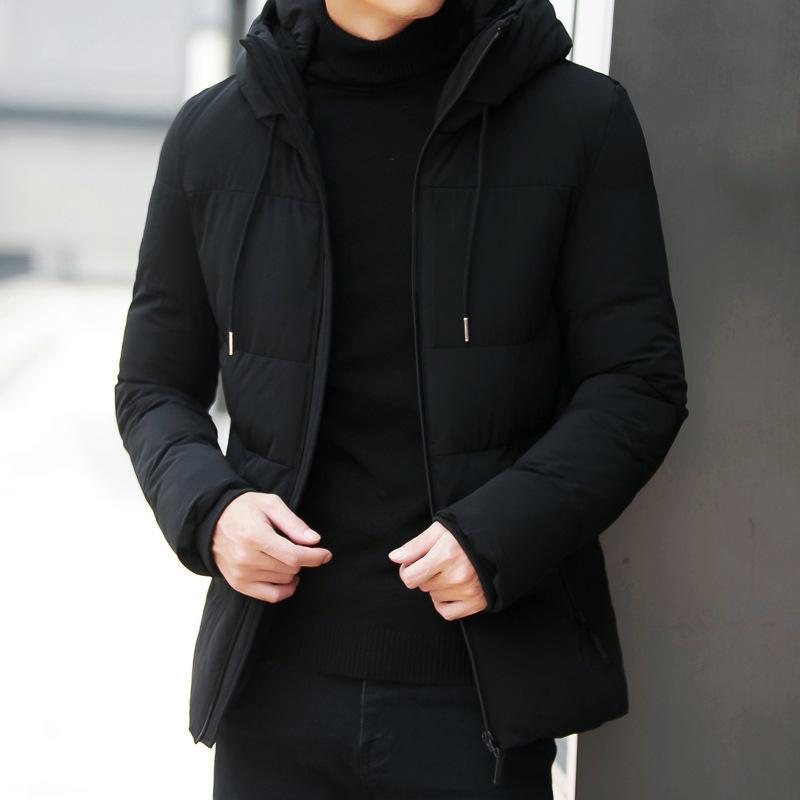 Hiver hommes chauds parkas Casual hommes Vestes Manteau Épaissir hommes imperméable à capuchon Zipper Outwear vêtements Jaqueta masculina 201118