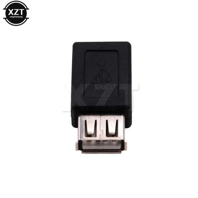 Аксессуары для мобильных телефонов Мобильный телефон Адаптеры Конвертеры 2 шт. USB 2.0 Тип Женщина в Micro USB B Женский адаптер Plug Converter
