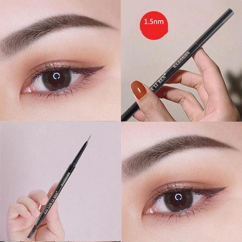 Автоматический поворот 6 цветов макияж двойной карандаш для бровей бровей карандаш карандаш карандашная черное дерево мягкое коричневое темно-коричневое среднее коричневое шоколад бесплатная доставка