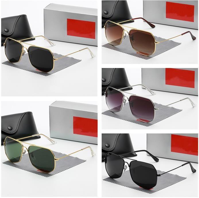 خمسة ألوان الرجال aviator النظارات الشمسية الأزياء الكلاسيكية الفضلات المصممين جودة عالية القيادة النظارات الاستقطاب مع مربع 1971