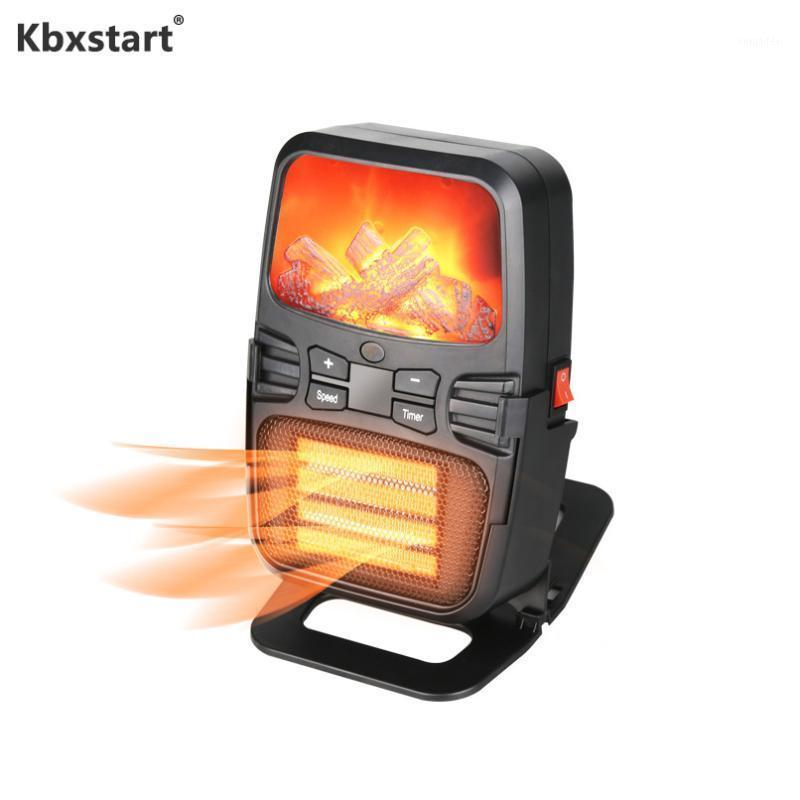 Aquecedores elétricos inteligentes KBXSTART Mini aquecedor de inverno portátil com aquecimento de parede de controle remoto para aquecimento interno 220V 1000W1