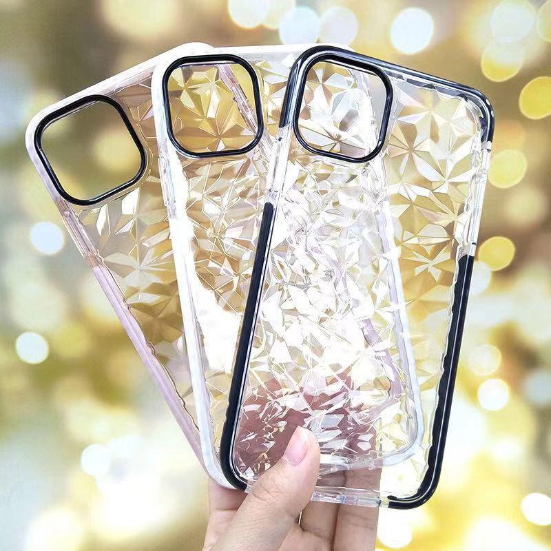 شفافة 2-color مكافحة قطرة الهاتف المحمول القضية ل 12 برو الماس نمط حالة الهاتف المحمول ل iphone11 برو