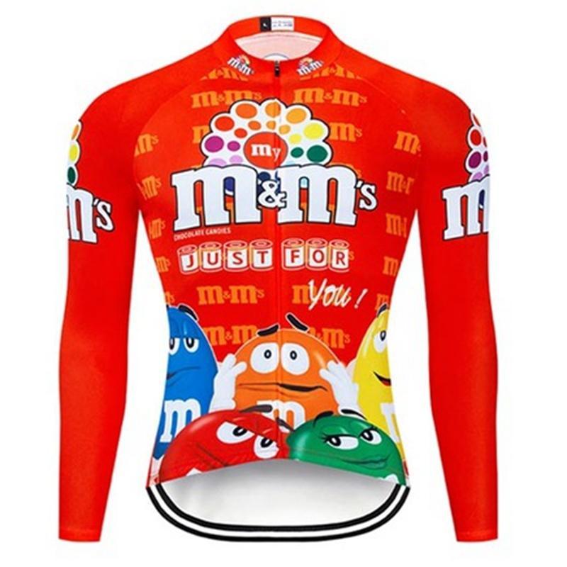 M Ms-Maillot Manga Larga Ciclismo, Uniformen Bicicleta de Montaa, Trmico y Polar, Hombre, Para Invierno