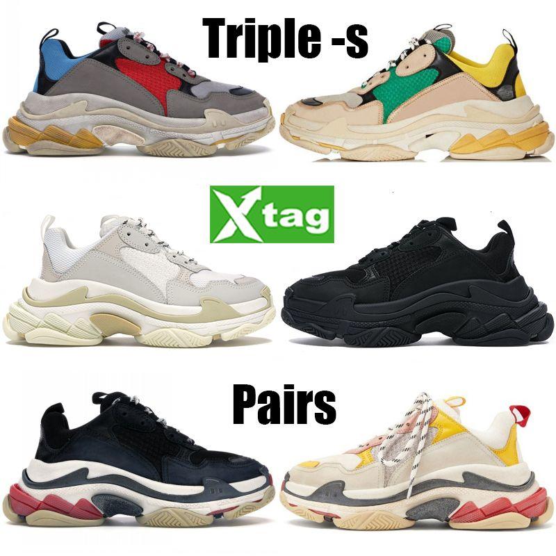 أزواج ثلاثية أزياء الرجال النساء أحذية رمادي أحمر أزرق أسود أبيض متعدد الألوان منصة أحذية رياضية البيج الأخضر الأصفر تشغيل أحذية كرة السلة