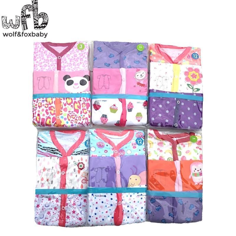Einzelhandel 3pcs / lot 0-24Monaths Kurzarm Baby Säuglingskampf Cartoon Für Jungen Mädchen Jumpsuits Kleidung Kleidung Y200320