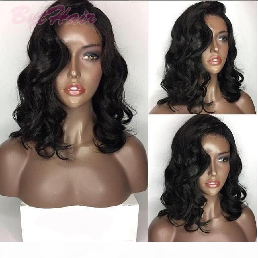 Pelucas de cabello humano de encaje completo de bloy ondulado Pelucas de cabello humano brasileño de pelucas humanas Pelucas frontales de encaje para mujeres negras con pelos de bebé