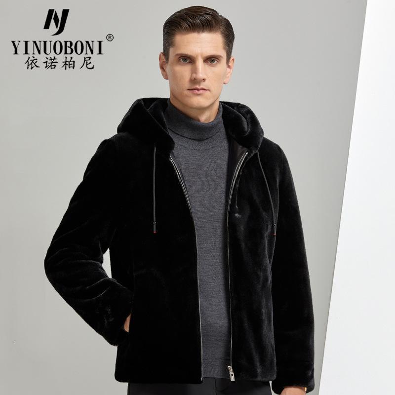 2020 Nouveau loisir à capuchon de la fourrure de fourrure de mode d'or golden hiver imitation courte imitation veste