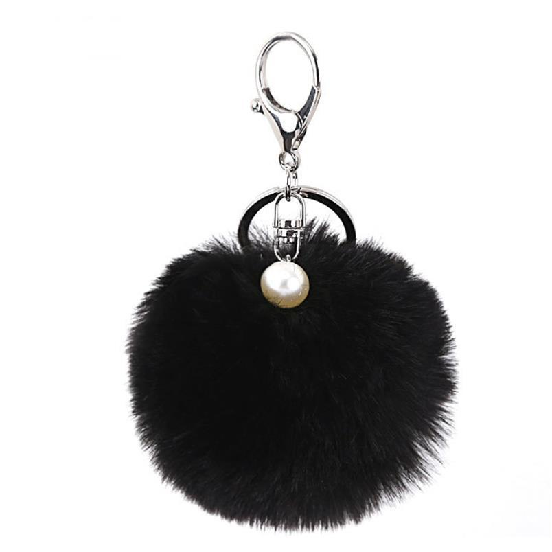 Fashion Fluffy Artificial Rabbit Fur Ball Key Chain Pompons For Women Girl Bag Pendant Jewelry Key Ring Holder Pr007 F jllIwF