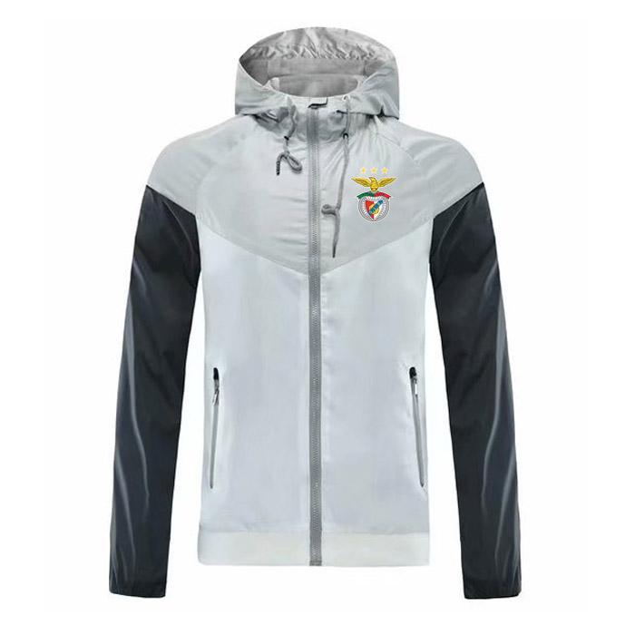 Veste Trend Veste de mode Homme Veste à capuchon Résistant Football Benfica Zipper à glissière Windbreaker Wind Football Automne Formation QLXXT