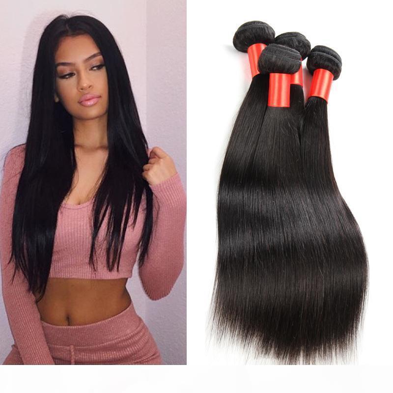 Grado 7A Venta al por mayor Virgen Peruano Malasia Extensión del cabello Brasileño Top Qaulity Paquete de pelo humano recto Goldleaf Pein Free Envío