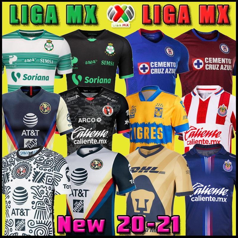 20 21 Club America Cruz Cruz Azul Soccer Jersey 2020 Guadalajara Chivas Tijuana Unam Tigres Home Away Terceiro Liga MX Futebol Camisas Santos Laguna