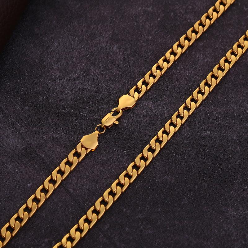 Yunjin Jewelry 6mm NK Necklace Popular NK Chain New Gold Necklace 18K Gold Plated