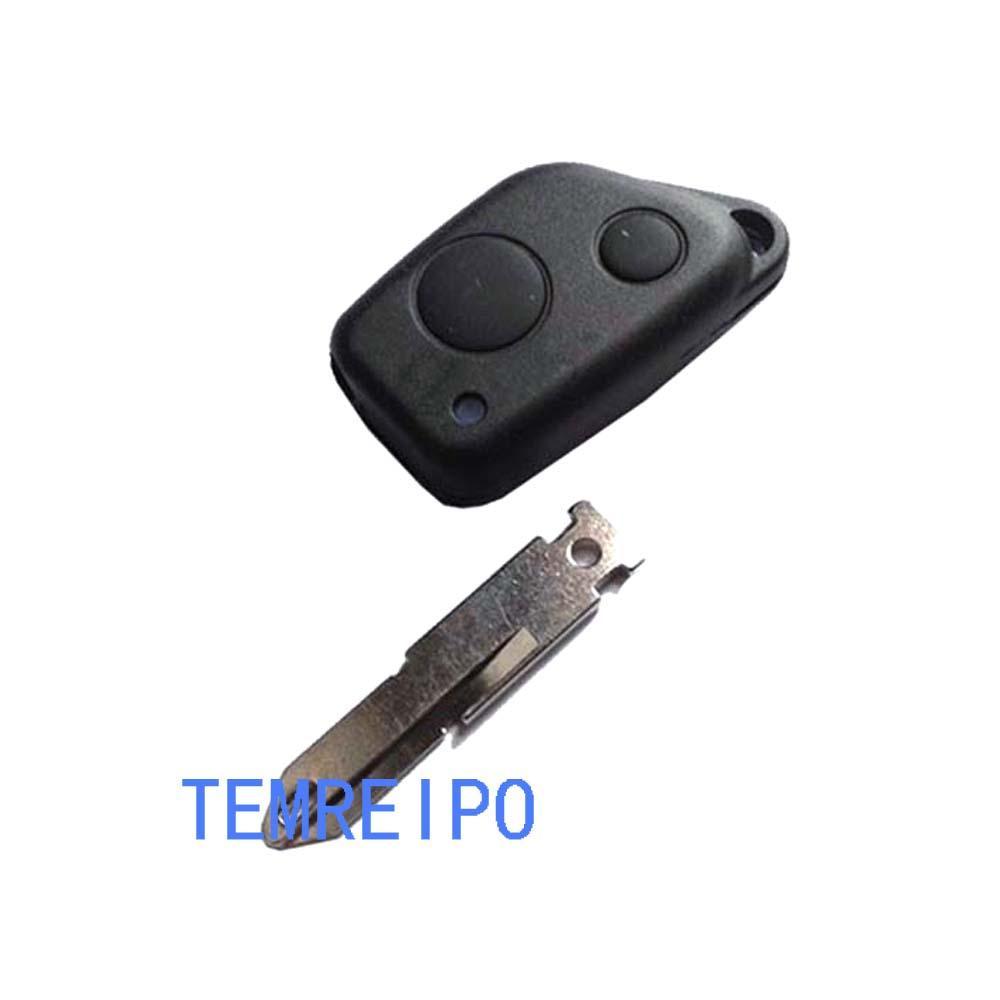 Замена ключевой корпус корпуса для Peugeot 405 206 1 Кнопка удаленный ключ Пустая крышка FOB неразрезанный клинок
