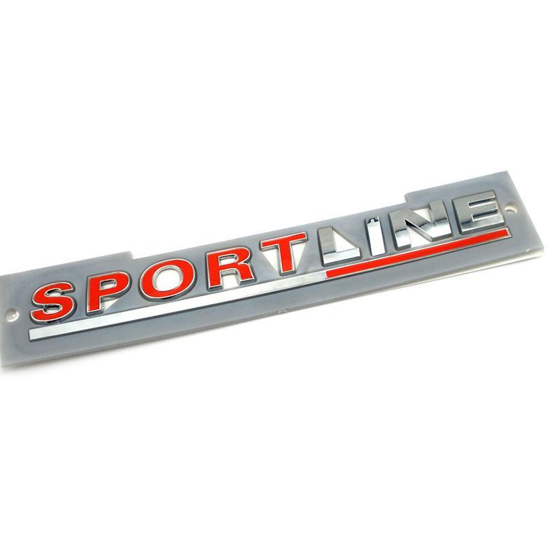 Sportline Badge Emblem Decal Decal Decal Doot Couvercle arrière Tailgate Tailgate Signe du coffre Logo Décalque pour VW Transporter Emblem Caddy