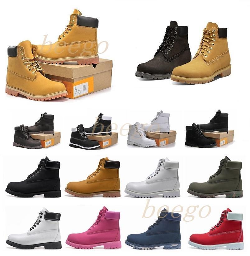 2021 homem de madeiraBotas Designer Mens Womens Shoes Top Quality Amarelo Inverno Bota para Cowboy Amarelo Azul Black Black Caminhadas Trabalho 36-46 8 #
