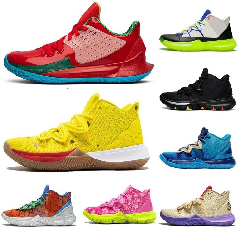 Nouveau Kyrie Irving \ Rspongebob 5 5s Jumpman Hommes Chaussures de basketball Amis USA CNY Patrick Mens Baskets Sports Sports Sports Sports 7-12