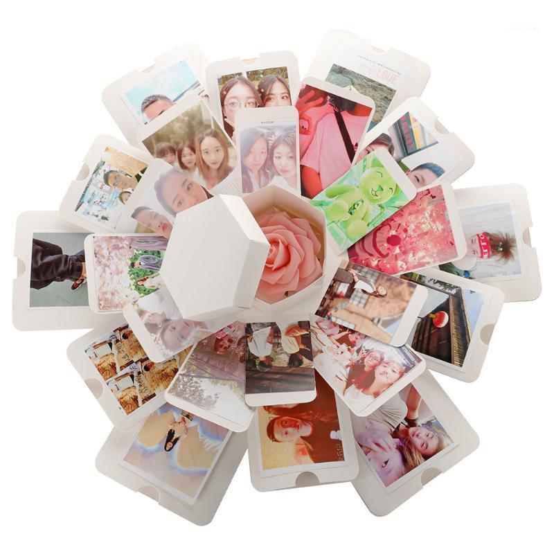 Caja de regalo Sorpresa Caja de explosión DIY Libro de recuerdos hechos a mano Foto de regalo de boda para San Valentín Fiesta de Navidad.