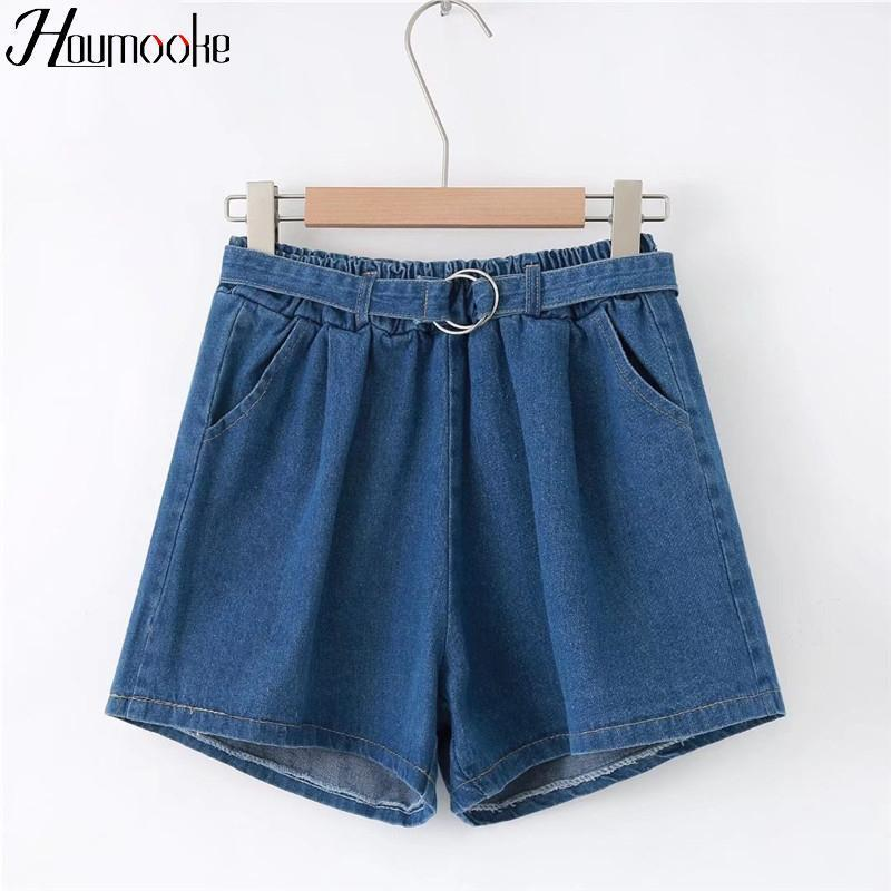 Houmk 2019 Donne Summer Shorts Style Style Harajuku Candy Colors Short Mujer Pineapple Ricamo Ladies Streetwear Cute Shorts1