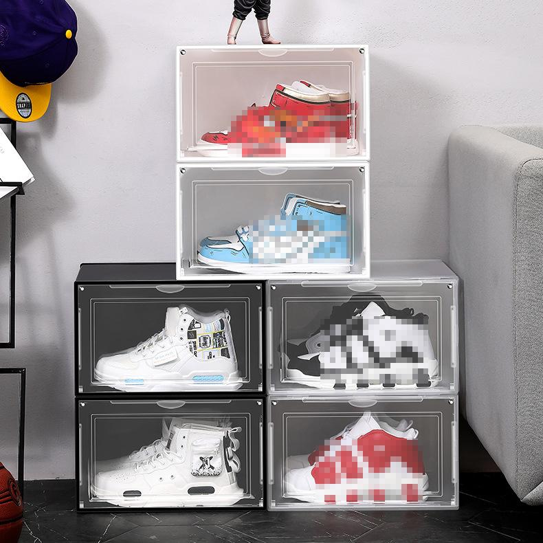 واضح البلاستيك مربع الأحذية الغبار الرطوبة مقاومة للترحيل الأحذية شفاف درج فرز الأحذية مجلس الوزراء الأحذية المنظم VT1864