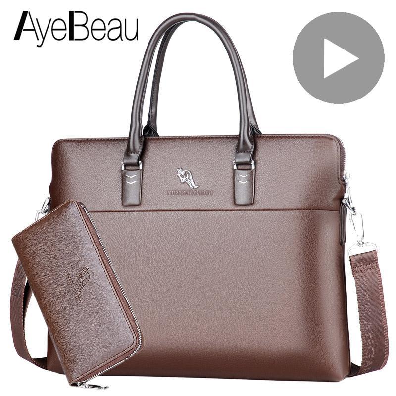 Portable Work Business Office Male Messenger Bag Men Briefcase For Document Laptop Computer Handbag Shoulder Brief Case Satchel Q0112