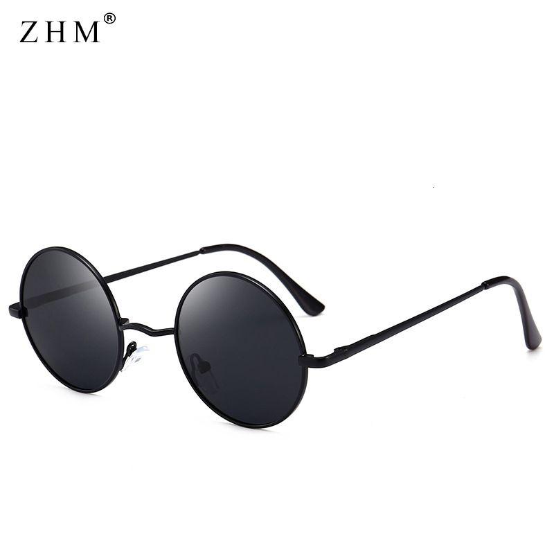 Металлы Новые Солнцезащитные очки Классический поляризованный дизайн Мужчины 2020 Очки Круглый UV400 Огонь Стекло Гафас Женщины Вождение Okaet