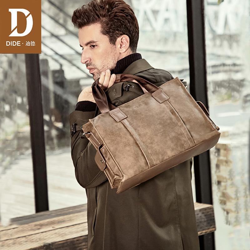 HBP DIDE Brand Design Business Fashion Messenger 14' Laptop Bag Messenger/Shoulder Bags Men's Office Briefcase Male handbags Q0112