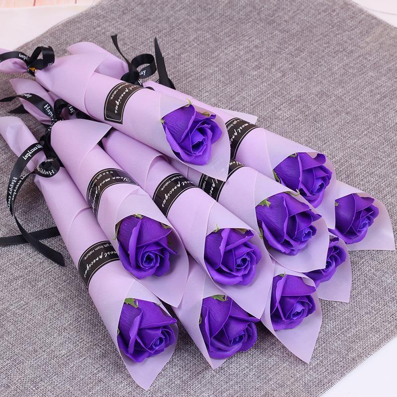 Искусственная роза цветок 8 стилей мыло цветок валентинок день рождения рождественский подарок для женщин свадебное украшение OWA3026