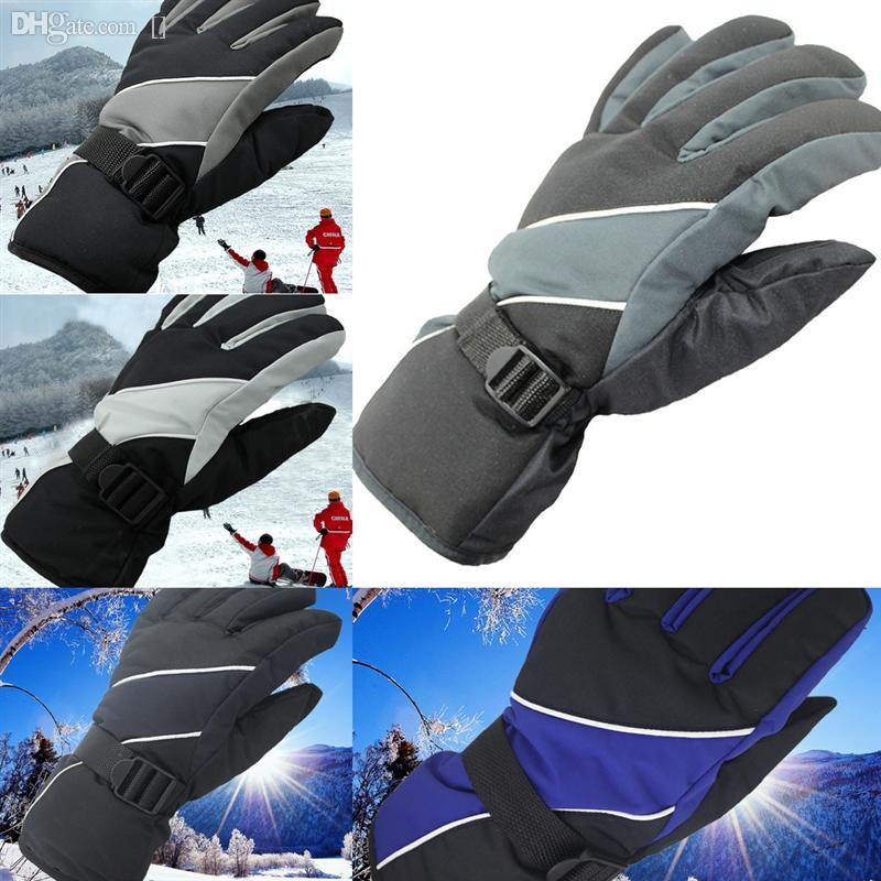 OQFQ6 Мотоцикл Нагретый GloveSeleClecelectric лыжи Зимний Термальный Человек Отопление лыжные Снегоходы Зимние Перчатки Водонепроницаемые Перчатки Сноуборд