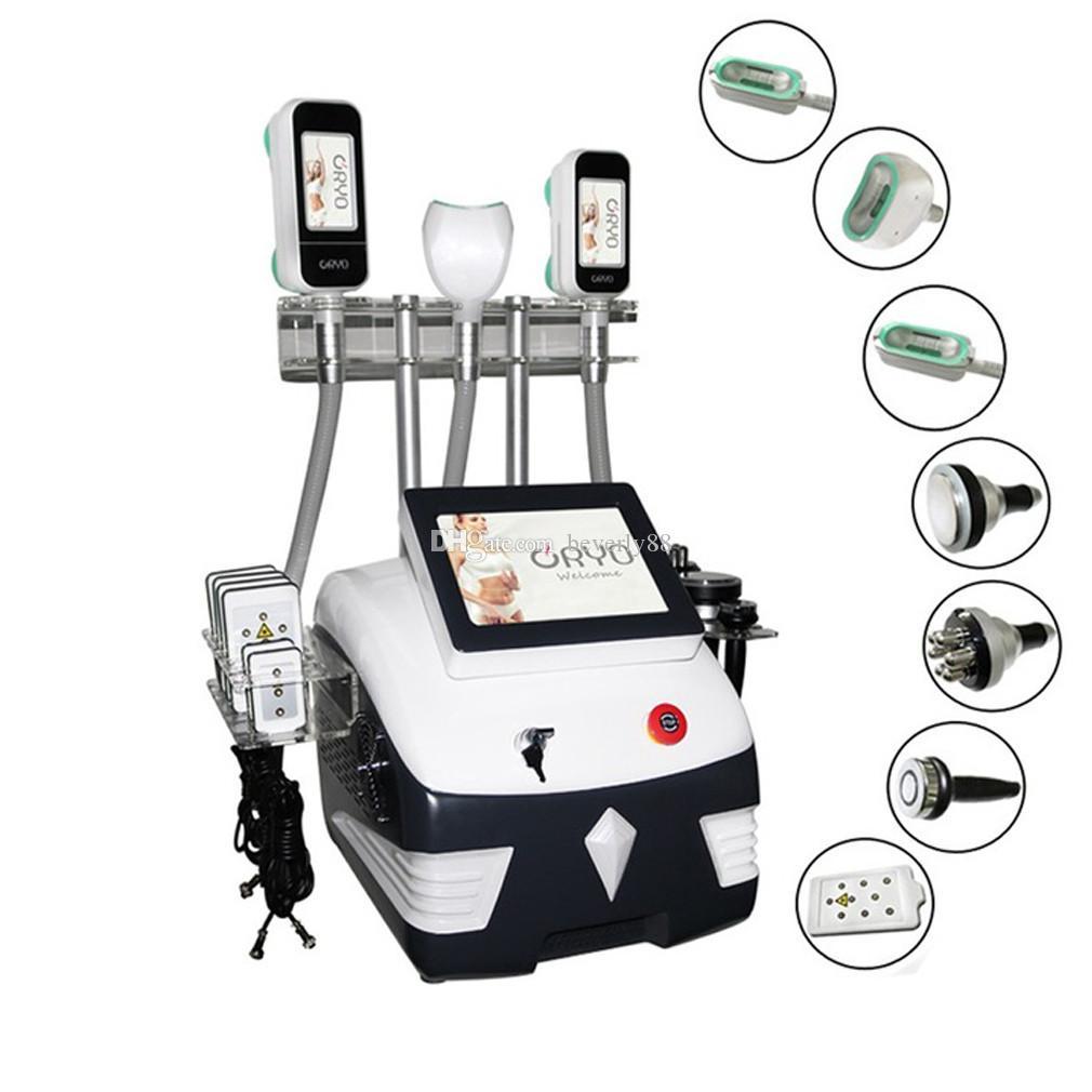 الموجات فوق الصوتية التجويف آلة التخسيس 7 في 1 فقدان الوزن اللياقة البدنية لوازم 3 cryo مقابض 360 cryolipolysis فراغ العلاج آلة الحجامة