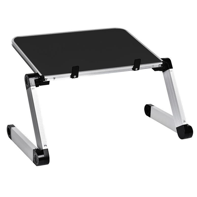 Aluminiumlegierung Laptop tragbarer faltbar einstellbarer Laptop-Schreibtisch Computertisch-Stand-Tablett-Notebook-Runden-PC-Klapptisch-Tisch
