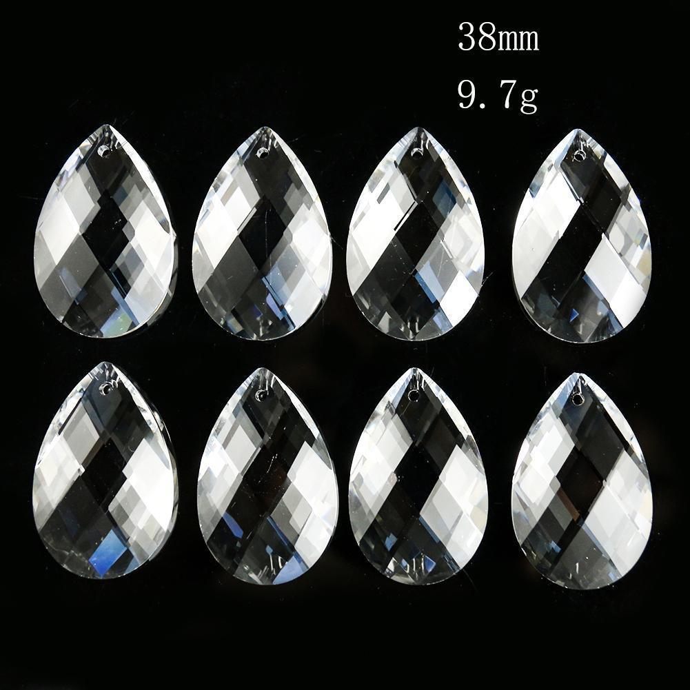 10 pcs 38mm reseau de cristal pingente para candelabro suncatcher prismas de cristal pendurado cristais diy decoração de casamento em casa dropshipping h jllfxh