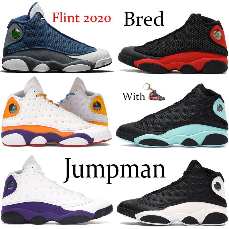 2020 Flint Jampman 13S 13 Mens 농구 신발 반사 행운의 녹색 반대로 놀이터 그분은 게임을 받아 섰습니다.