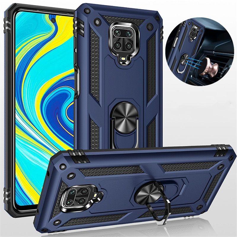 Darbeye Dayanıklı Halka Telefon Kılıfları Için Xiaomi Mi 11 10Pro 10 T Lite Zırh Tampon Kılıfı Redmi Not 10 10 s 9 9 T 9 S 9PRO 8 8T 8PRO 9A 8A 9C