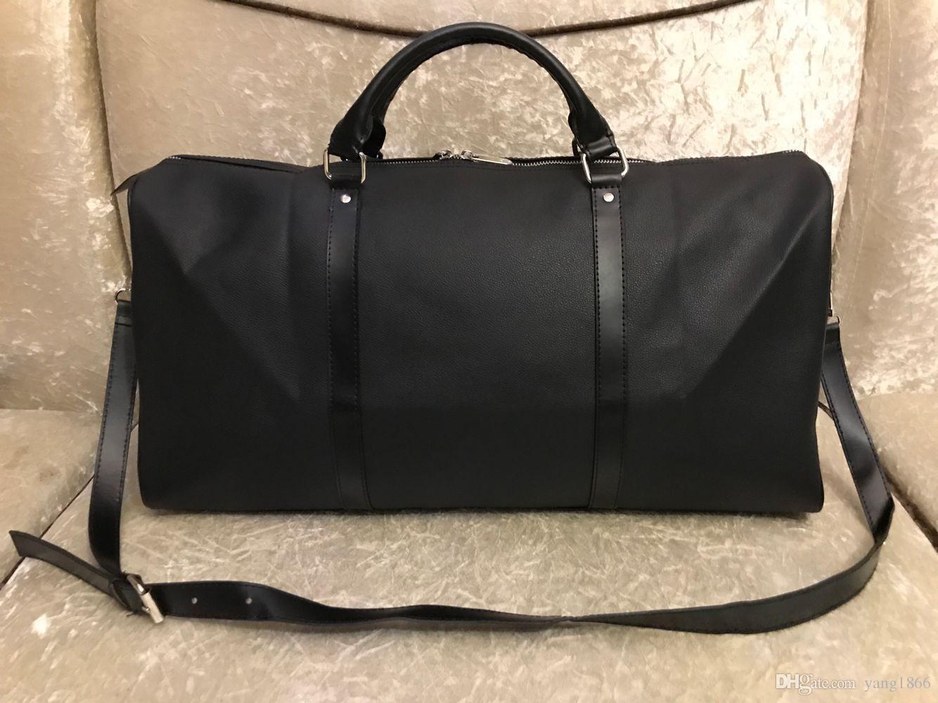 Vendita calda uomo borse da donna borse da viaggio bagaglio a mano bagaglio borsa da viaggio uomini PU borse in pelle di grandi dimensioni borse a croce borsetto 55 cm