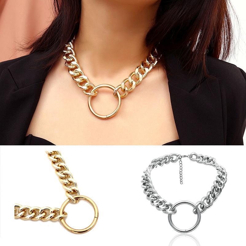 Старинный панк коренастый кожурный цепной ожерелье для женщин элегантный воротник колье свитер цепи ожерелье