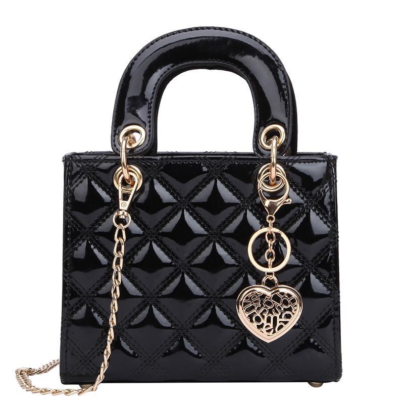 Cuero 2021 Messenger New Fashion Bag Tote Patent High Women's Quality Handbag Lingge Cadena Bolsa de hombro Designer Sugul