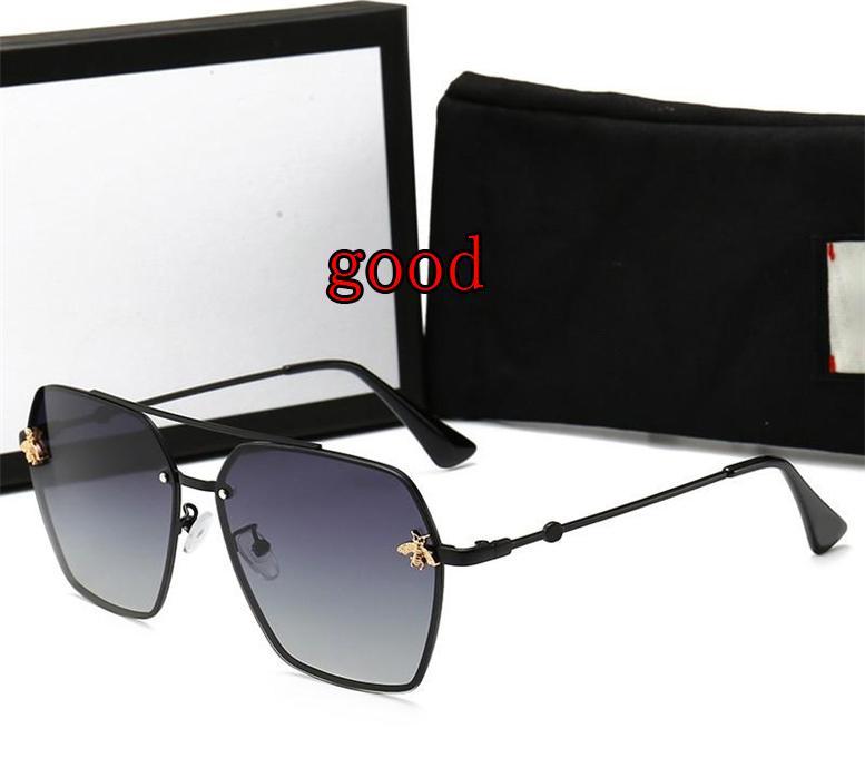 2021 Marka Moda Lüks Erkek Tasarımcı Polarize Güneş Gözlüğü Bayan Küçük Arı Güneş Gözlükleri Kılıf ve Kutu Ile UV400 Güneş Gözlüğü