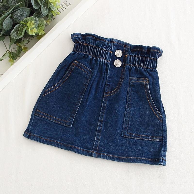 2020 New Summer Item Girl Fashion Jeans Skirt Denim Skirt Y200704