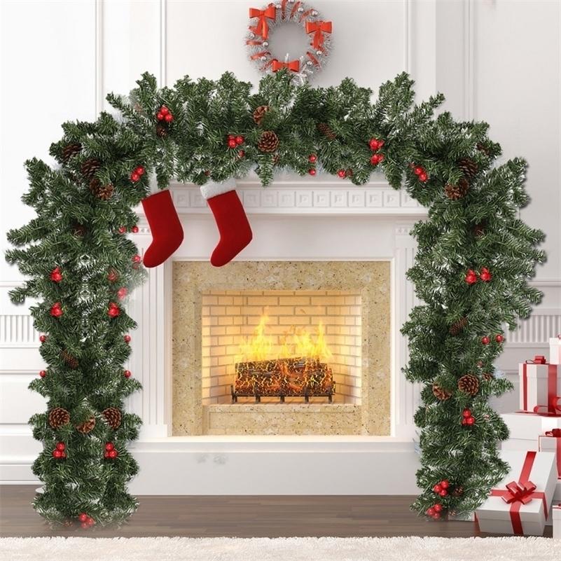 270см гирлянды декор домашней вечеринки стены дверь винограда рождественские поставки рождественские украшения навидад Боз народзения y201020