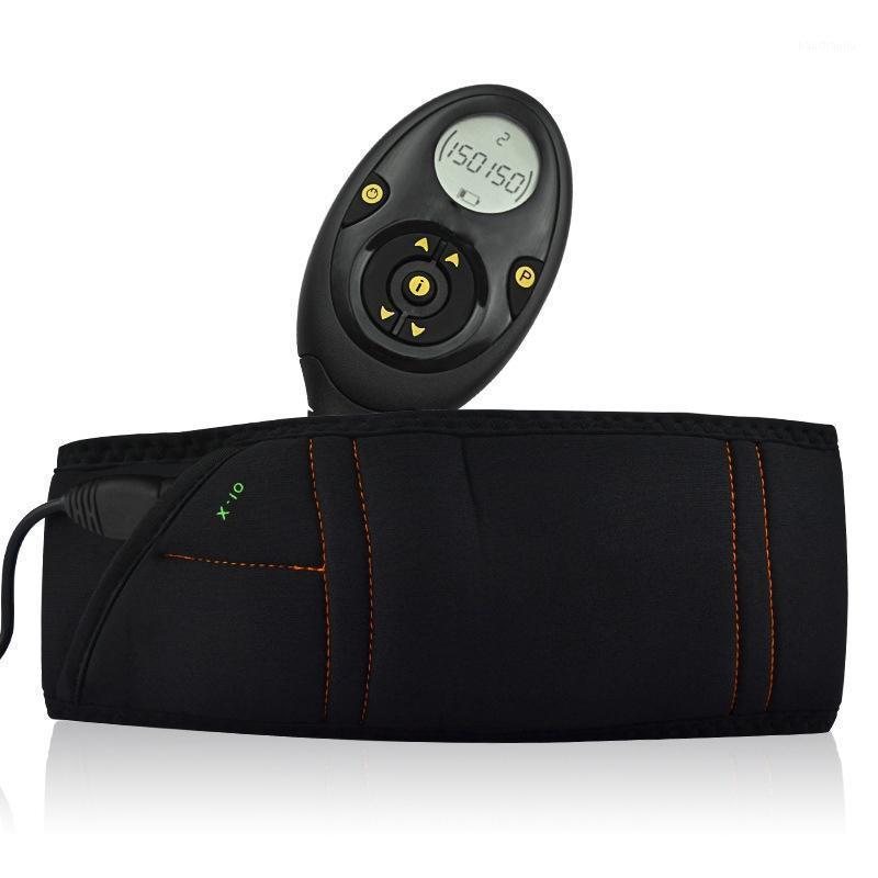 Cinturón de ejercicio de entrenamiento muscular Cinturón de masaje Smart Slimming ABS Abdominales músculo tóner de entrenamiento Masaje 10 Modos 150 Intensity1