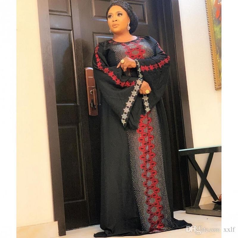 Bangladesch Muslim Hijab Abayas Frauen Dubai Caftan Robe Plus Size Boubou Frau Jalabiya Türkische Kleider Diamantkleid Islam