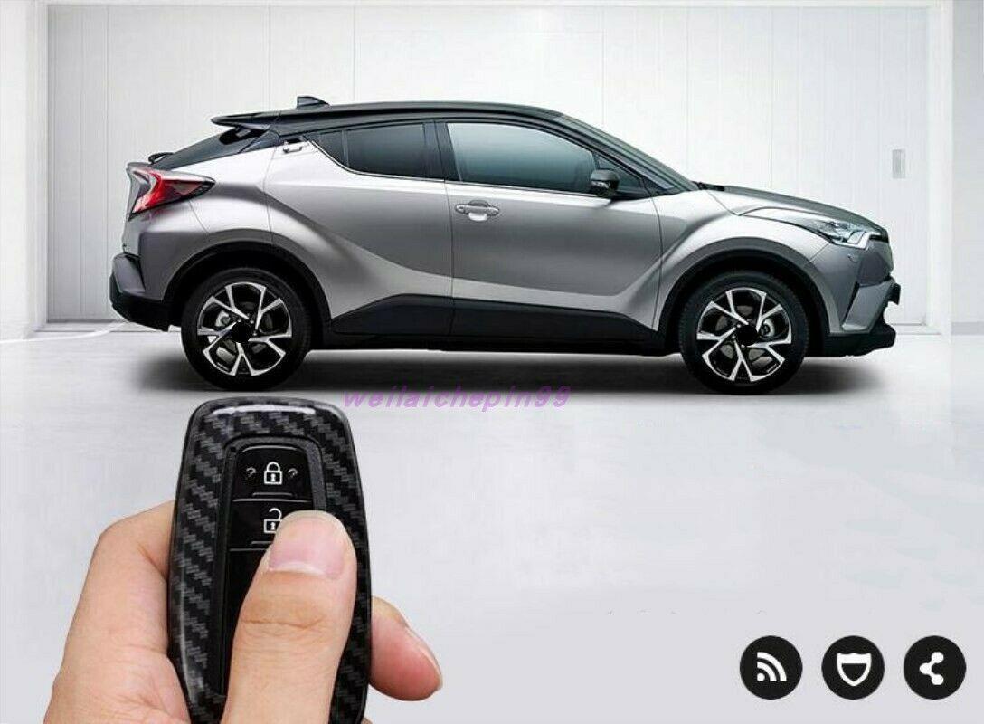 Edelstahl-Auto-Schlüsselhalter-Abdeckungsbesatz für Toyota C-HR CHR 2018-2019