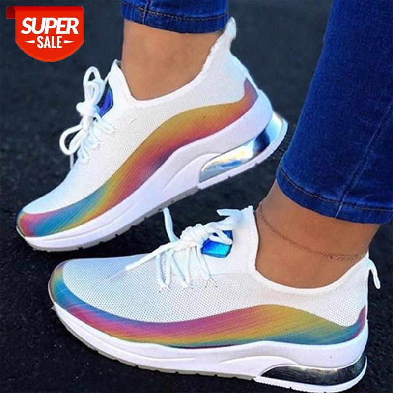 MCCKLE Women Colorful Cool Sneaker Ladies Lace up Vulcanized Shoes Casual Female Flat Comfort Walking Shoes Woman 2020 Fashion #wz73