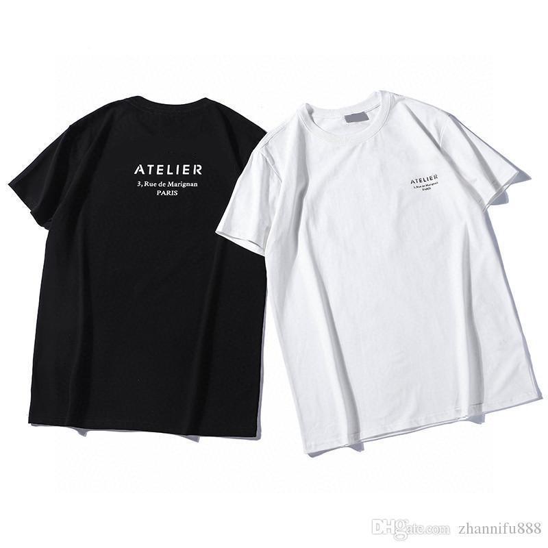2020 Neue Designer T-shirts Herren Casual Tees Terry Hübsche atmungsaktive lose Version Schneidvorgang Kurzarm Kurzarm Kleine Bienen Preming T-Shirts