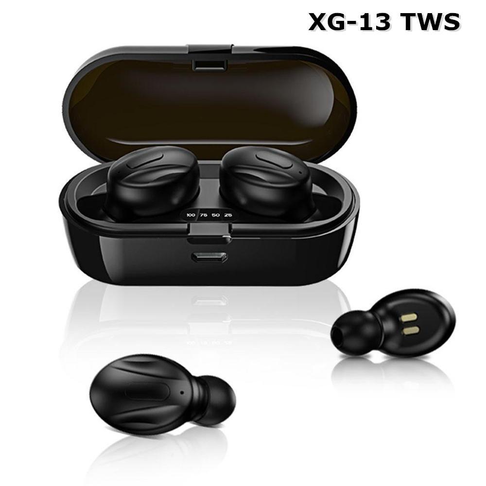 XG-13 TWS بلوتوث 5.0 سماعات لاسلكية سماعات ستيريو في الأذن تخفيض الضوضاء الرياضة سماعات الرياضة لهاتف أندرويد في صندوق البيع بالتجزئة