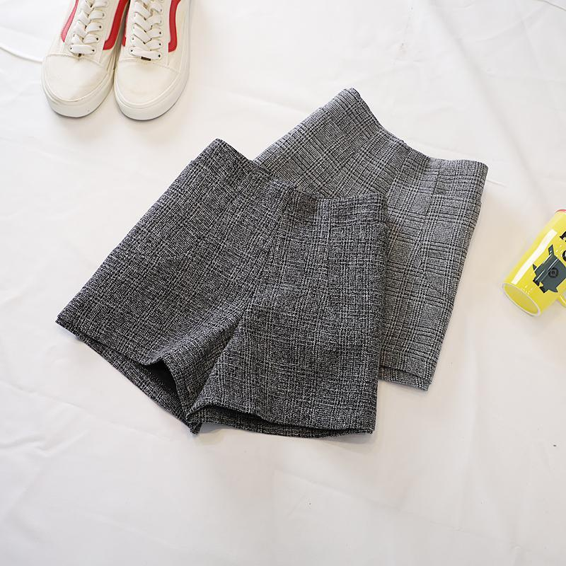 2021 caduta pantaloncini di lana donne inverno vita alta a vita larga gamba pantaloncini plus size femmina booty shortspartalones cortos de mujer