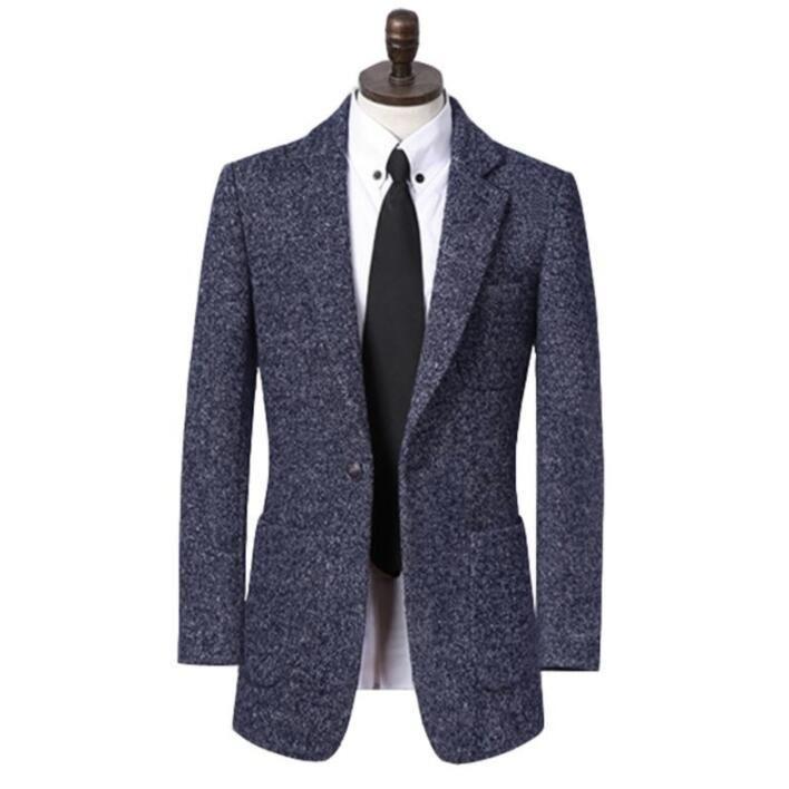 Couvertures Coating de laine Hommes Blazer Casual Trenchs manches manches longues manches manches longues Mens Cachemire Casaco Masculino Inverno Erkek Angleterre